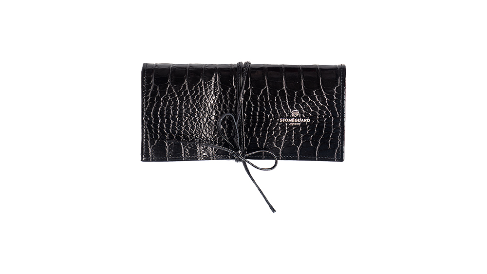 Stoneguard - Womens Leather Brush Case | 702 | Black Rift - image 1