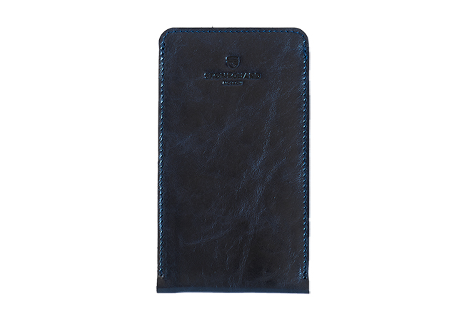 Leather sleeve for iPhone X/Xs | 512 | Dark Blue